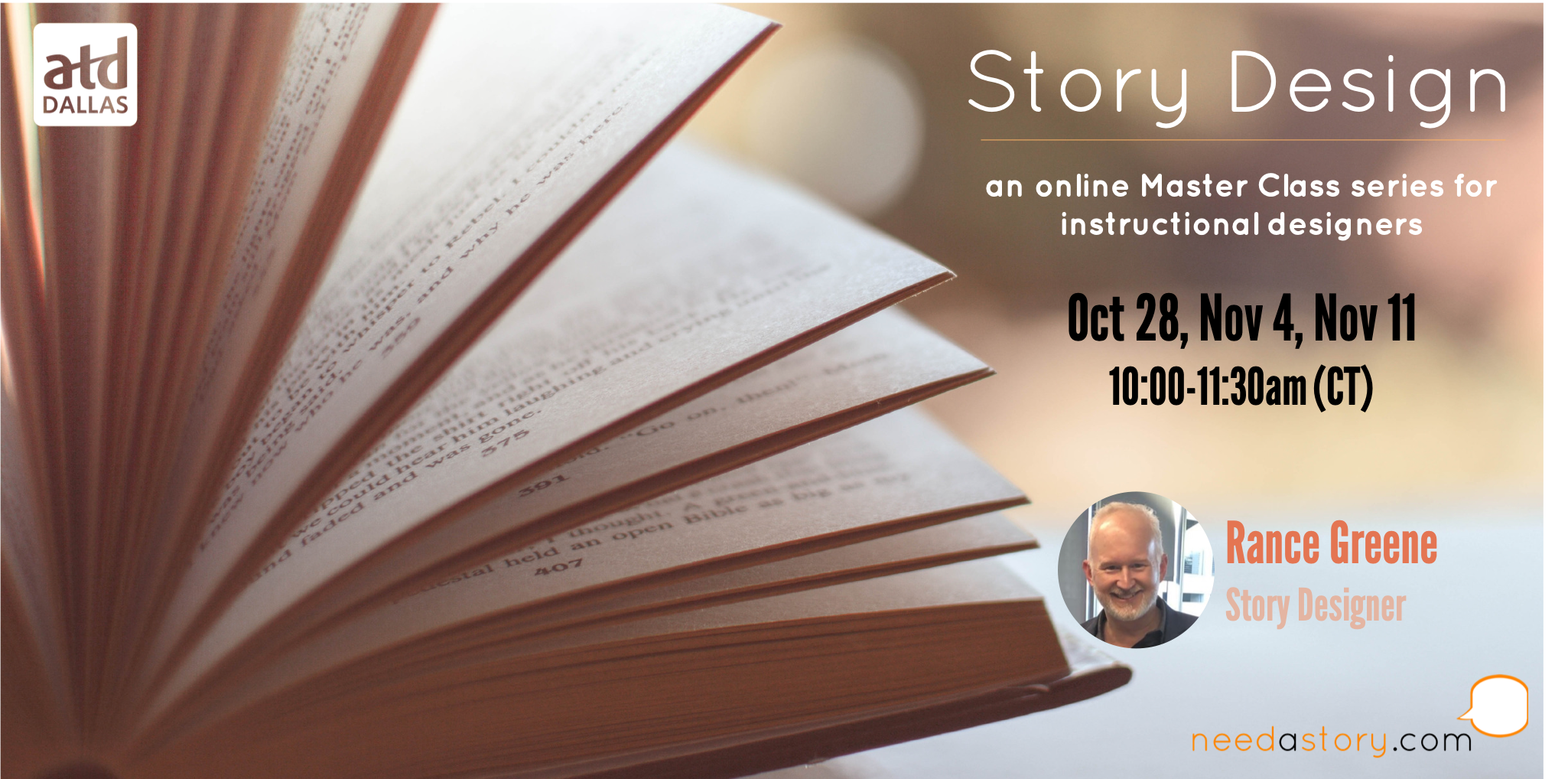 Atd Dallas Chapter Workshop Story Design Online Master Class Series