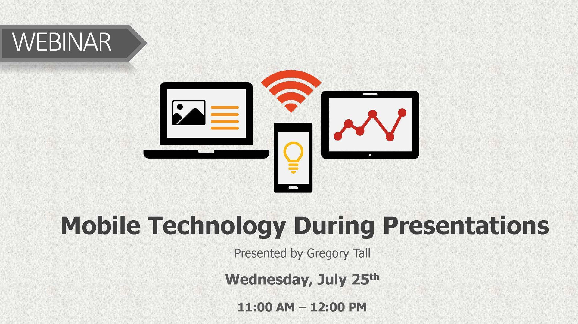 Atd Dallas Chapter Webinar Mobile Technology During Presentations